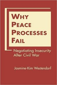 Why Peace Processes Fail book cover